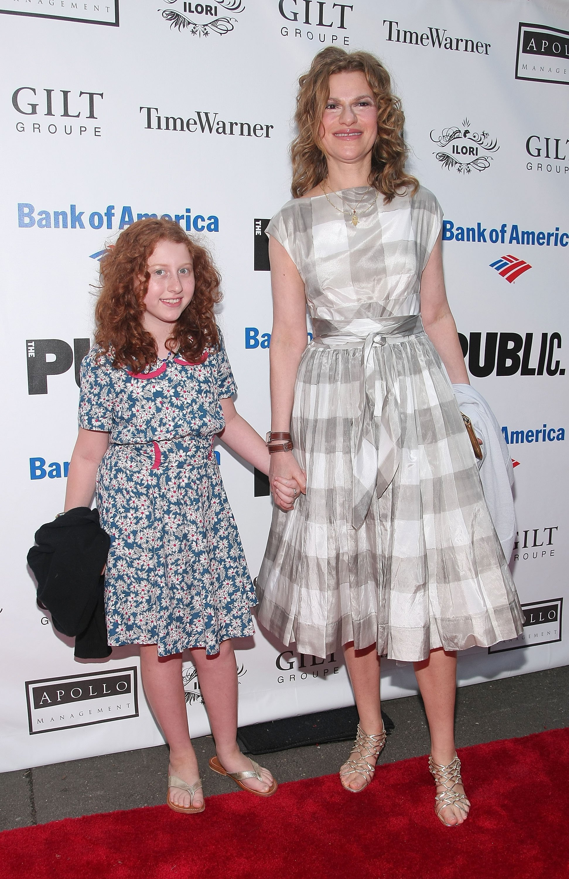 """Sandra Bernhard and daughter Cicely Bernhard attend the 2009 Shakespeare  in the Park opening night gala performance of """"Twelfth Night"""" in 2009. 