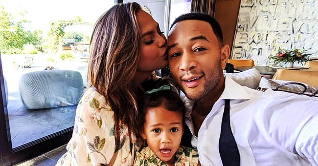 Chrissy Teigen Shares Photos of Husband John Legend & Their Adorable Kids in Their Swimwear