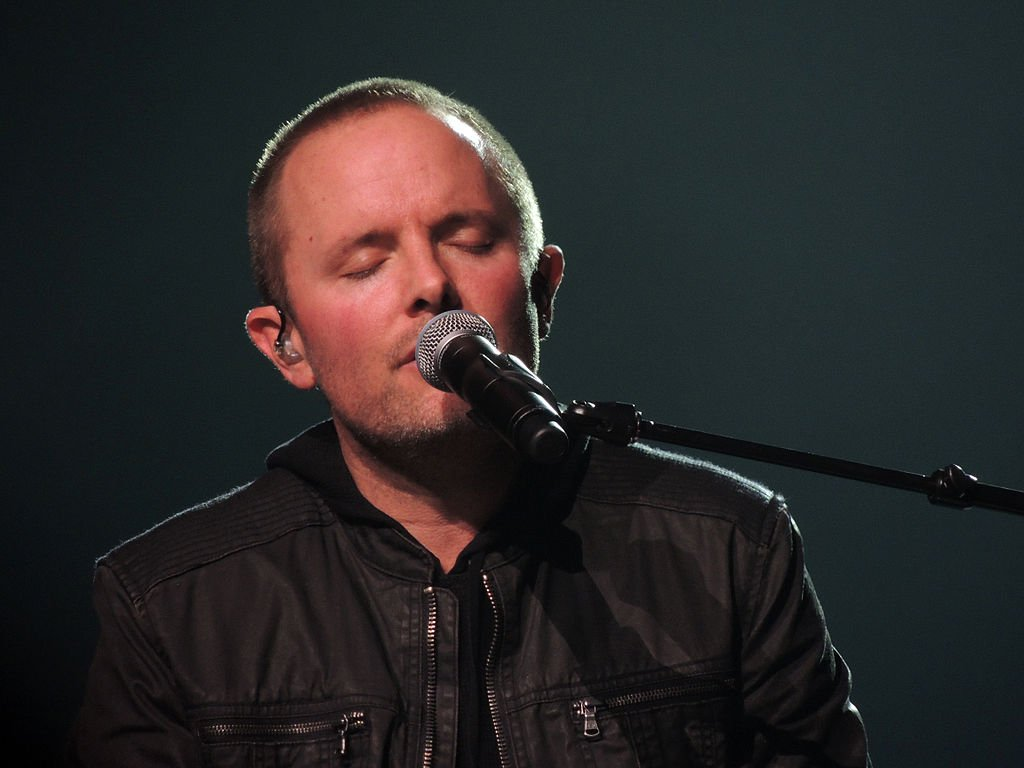"""Chris Tomlin performing at the Scottrade Center in St. Louis, Missouri during his """"Burning Lights"""" tour on  March 2, 2013. 
