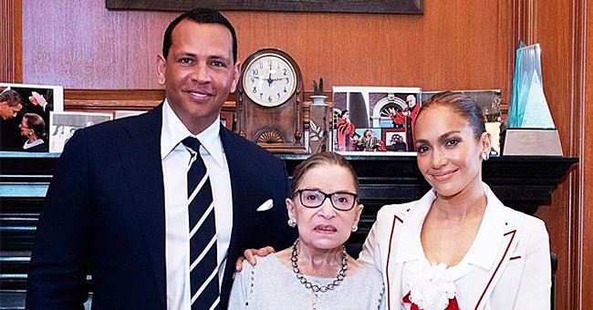 Alex Rodriguez Shared Photos of Him & J Lo Posing with Ruth Bader Ginsburg in Touching Tribute