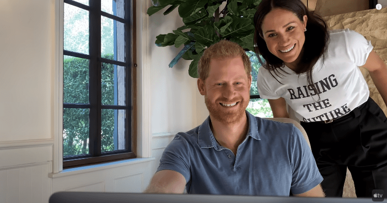 """Meghan Markle and Prince Harry in their home during an episode of """"The Me You Can't See"""" docuseries   Photo: YouTube/ Apple TV"""