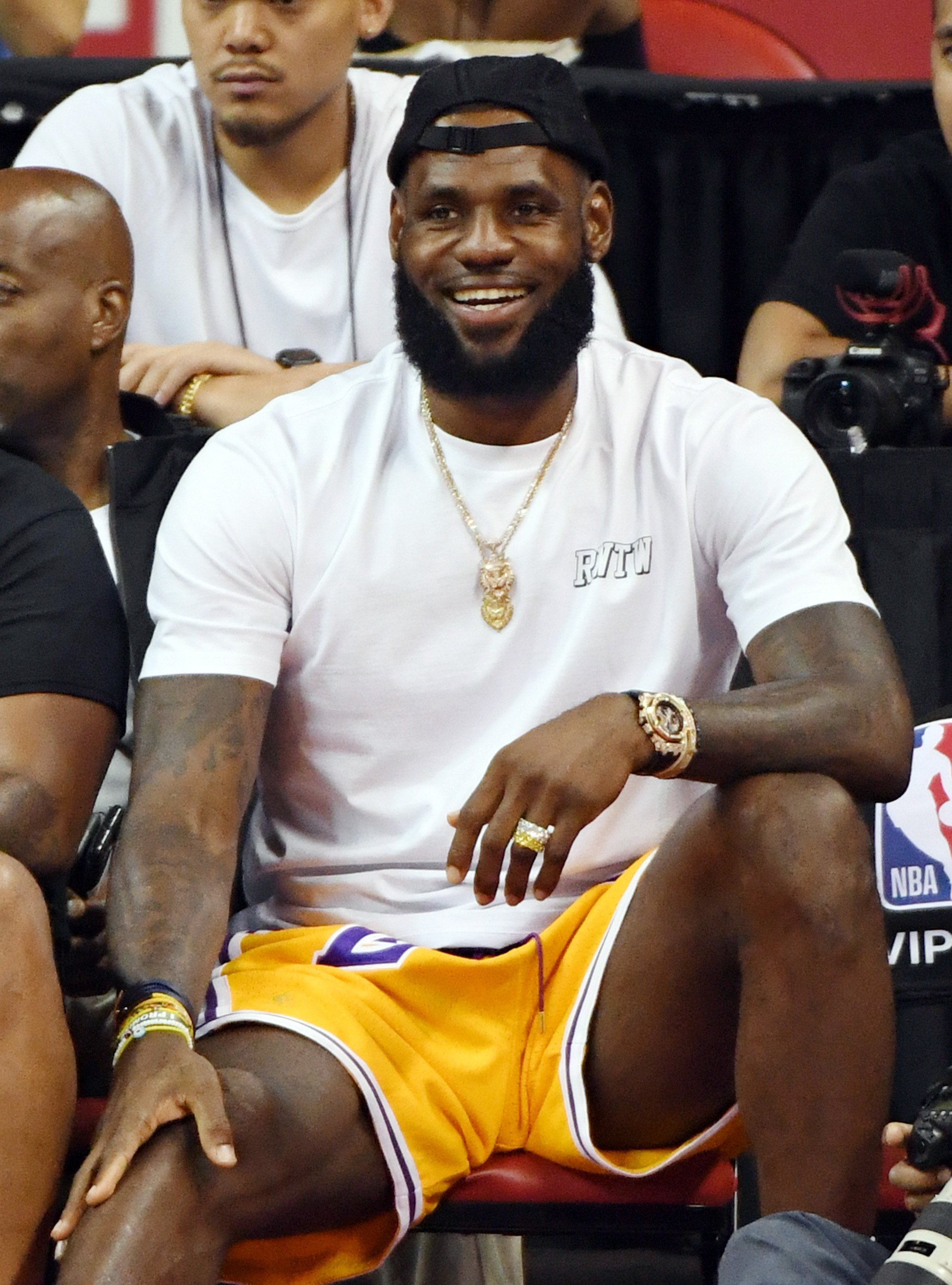 LeBron James attends a quarterfinal game of the 2018 NBA Summer League in Las Vegas, Nevada on July 15, 2018 | Photo: Getty Images