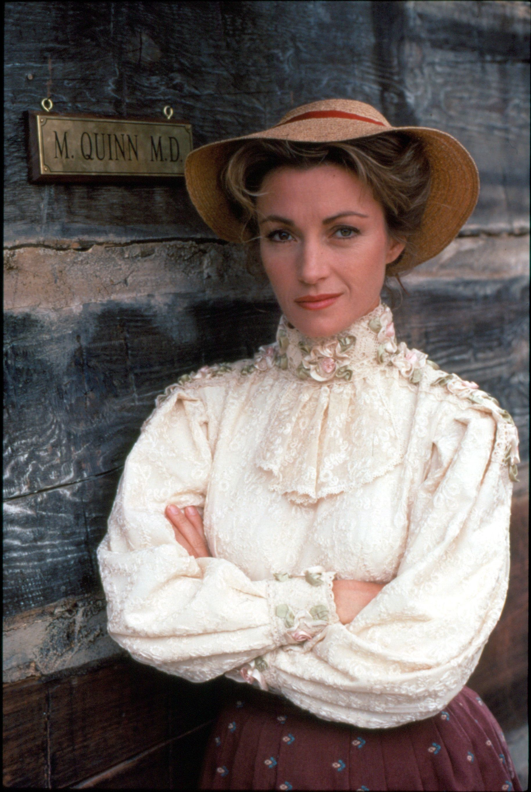 "Jane Seymour as Dr. Michaela 'Mike' Quinn, for the television series ""Dr. Quinn, Medicine Woman,"" 1992. 