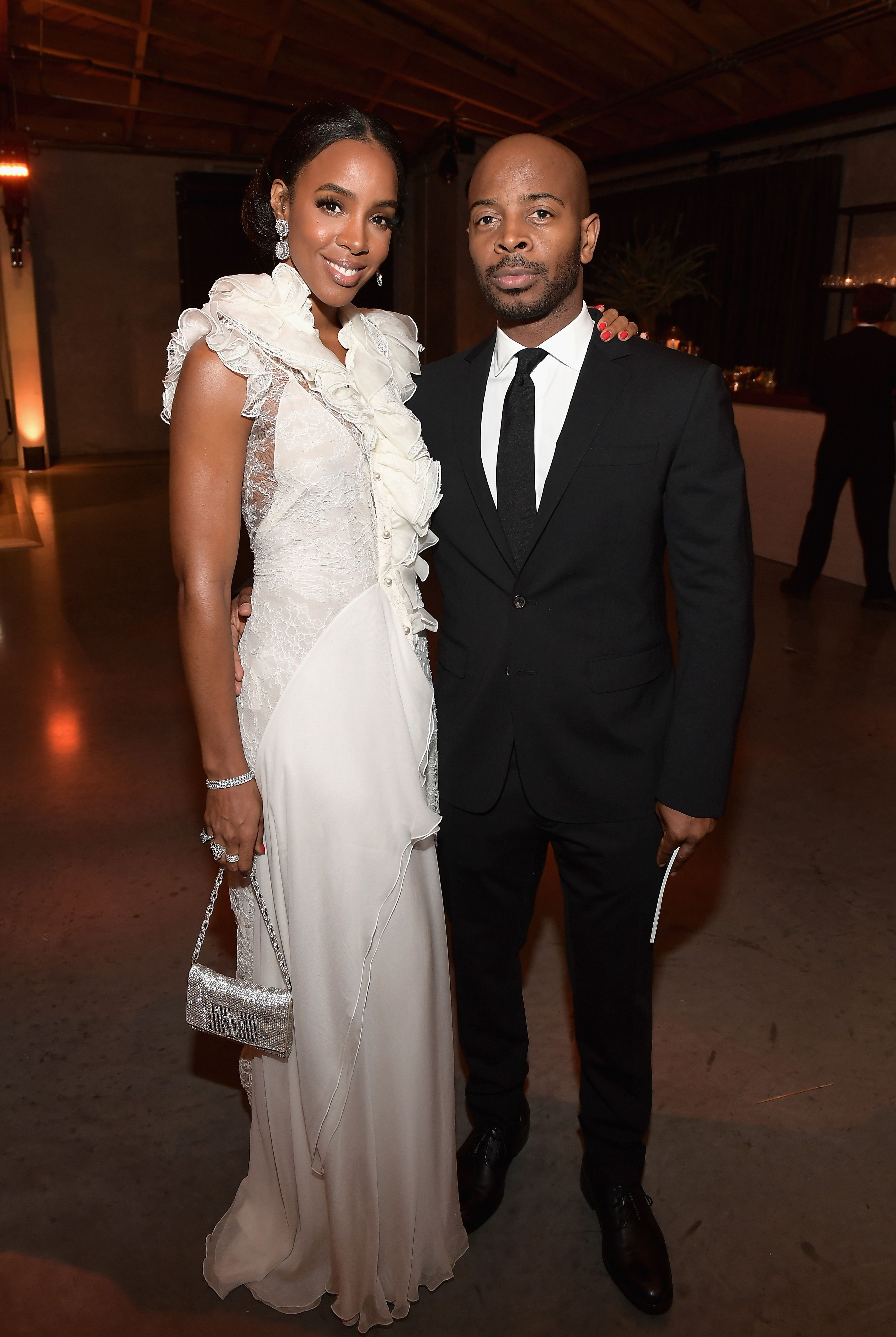Kelly Rowland with husband Tim Weatherspoon at The 2017 Baby2Baby Gala presented by Paul Mitchell in Los Angeles, California | Photo: Getty Images