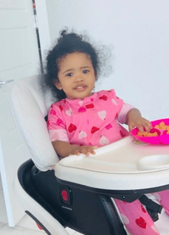 Photo of Ray J and Princess Love's daughter, Melody, sitting on a high baby chair. | Photo: Instagram/@princess Love