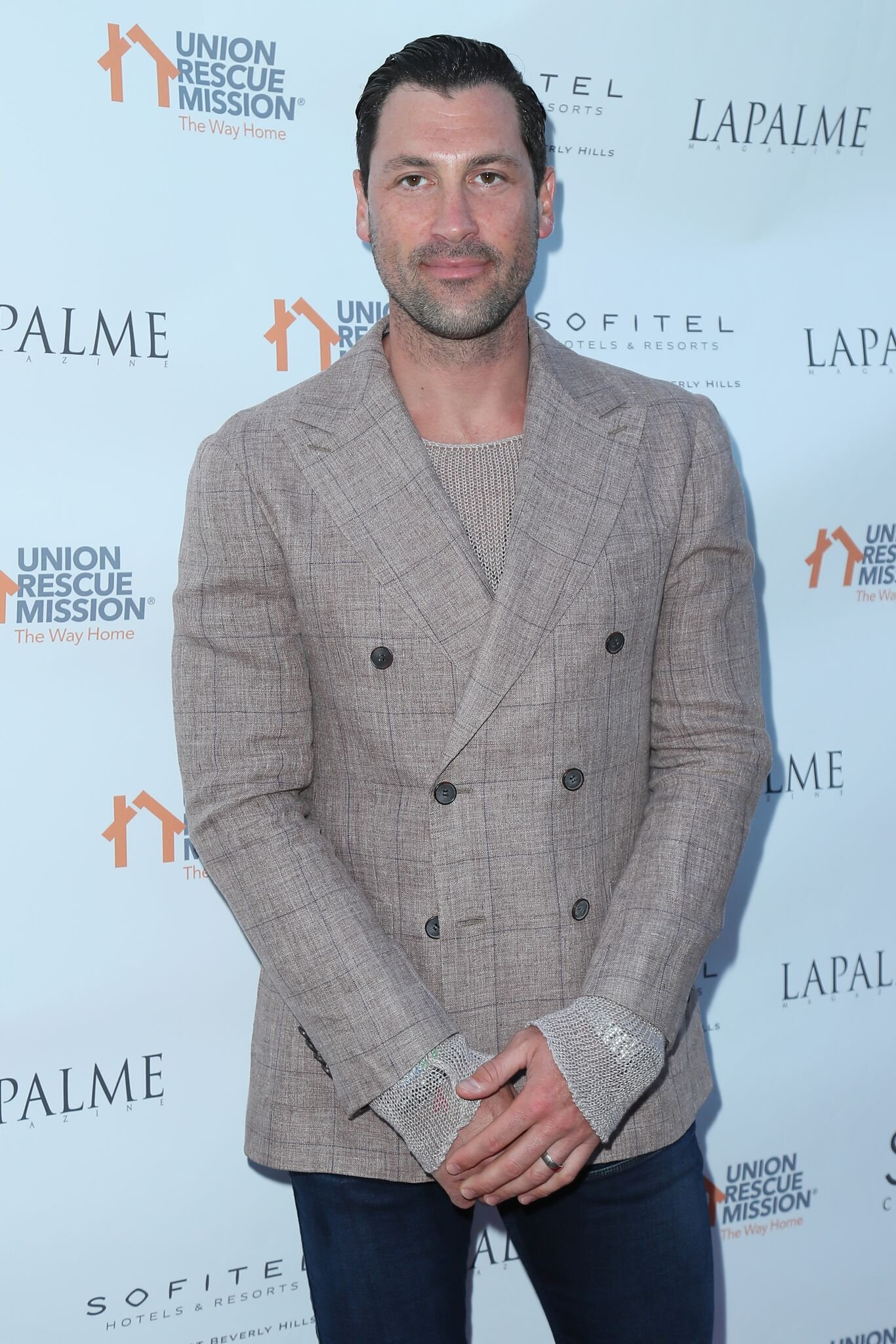 Maks Chmerkovskiy attends Lapalme Magazine's Party For Cover Stars Anthony Anderson And Meagan Good  | Getty Images