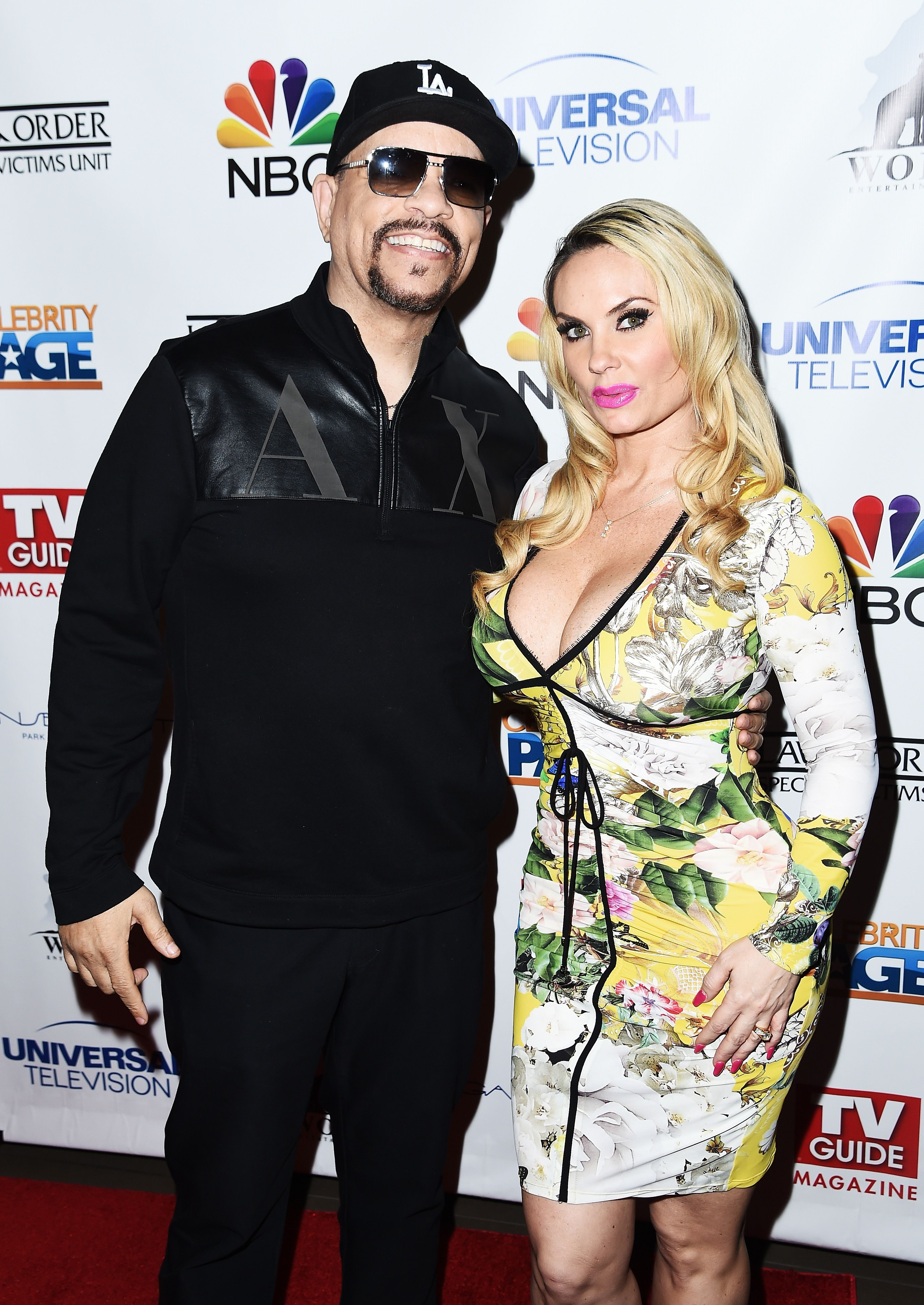 """Ice-T and Coco Austin during """"TV Guide Celebrates Mariska Hargitay"""" at Gansevoort Park Avenue on January 11, 2017 in New York City. 