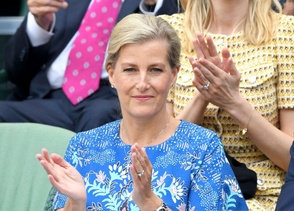 Sophie, Countess of Wessex attends day nine of the Wimbledon Tennis Championships at All England Lawn Tennis and Croquet Club | Photo: Getty Images