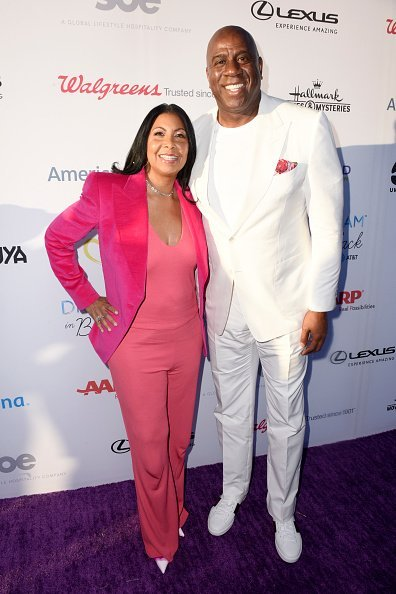 Cookie Johnson and Magic Johnson at the HollyRod Foundation's 21st Annual DesignCare Gala on July 27, 2019 | Photo: Getty Images
