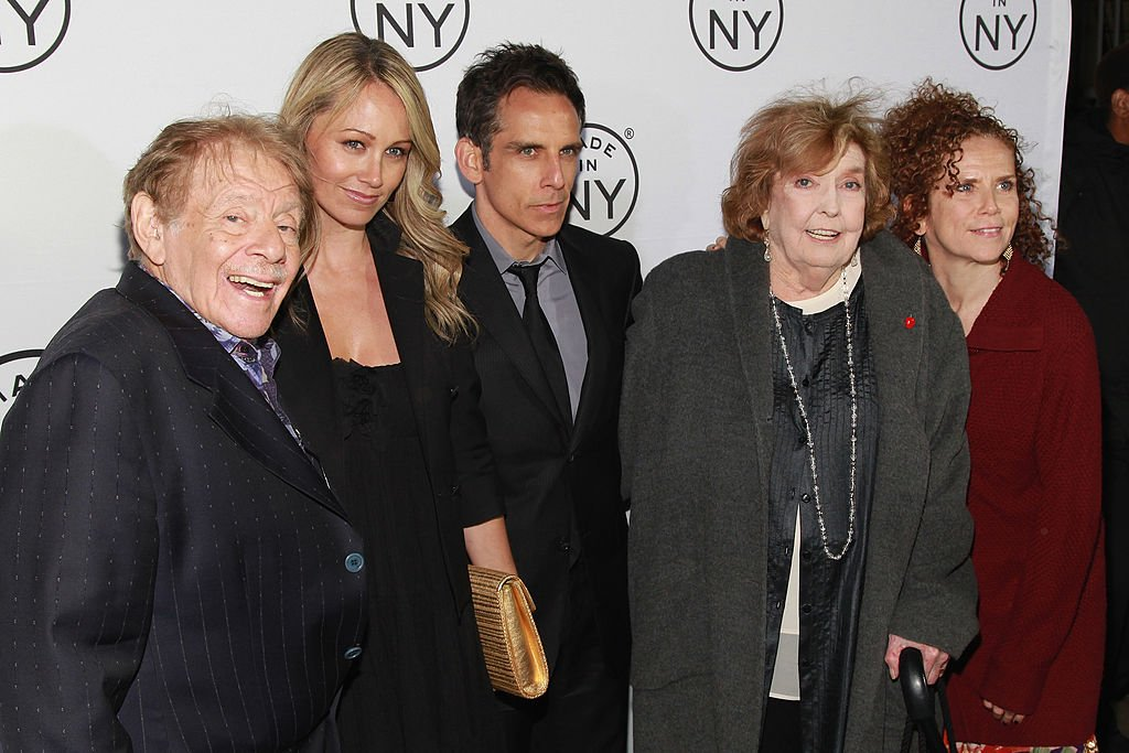 Jerry Stiller, Christine Taylor, Ben Stiller, Anne Meara, and Amy Stiller attend the 2012 Made In NY Awards on June 4, 2012 | Photo: GettyImages
