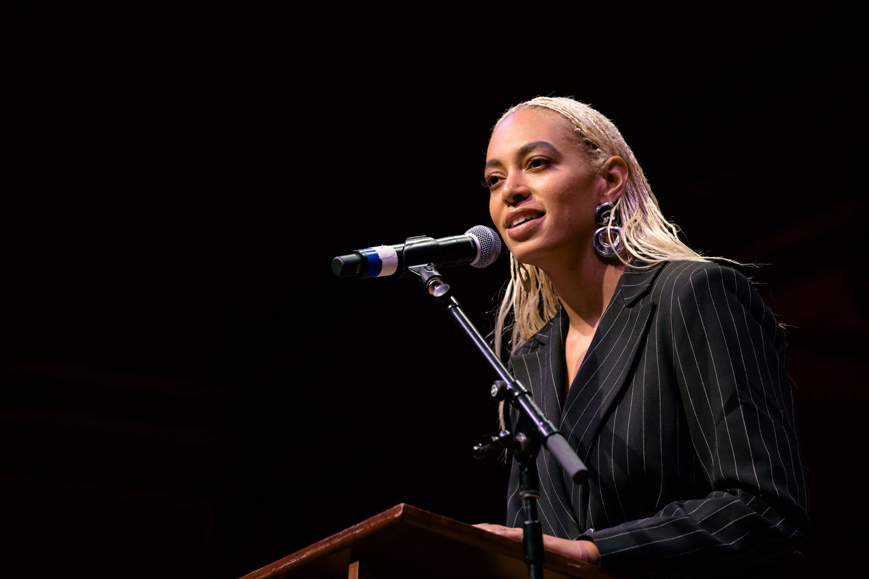 Solange Knowles at a speaking engagement | Source: Getty Images/GlobalImagesUkraine