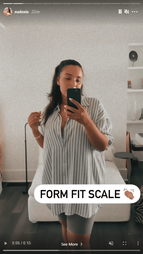 Ludacris' wife, Eudoxie Mbouguiengue, showing off her weight loss in a mirror selfie   Photo: Instagram/Eudoxie