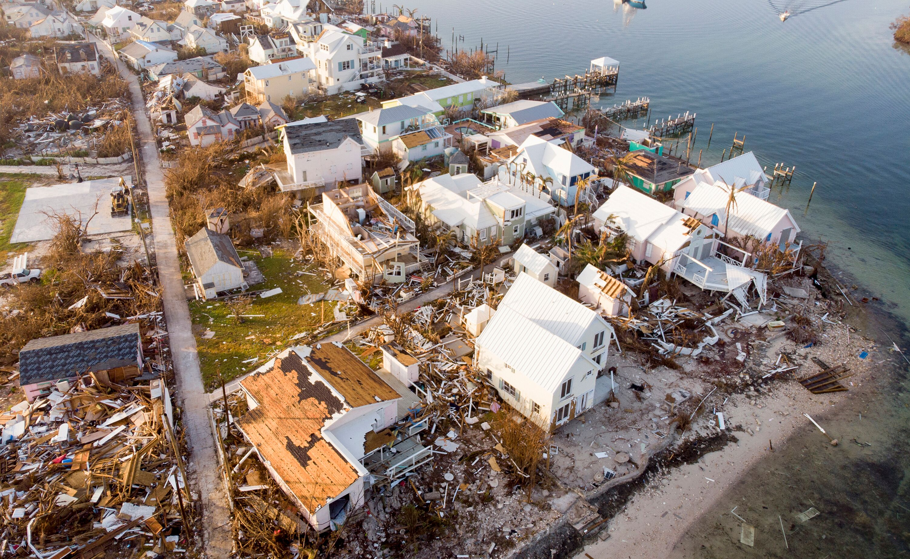 Homes destroyed by hurricane Dorian in the Bahamas | Photo: Getty Images