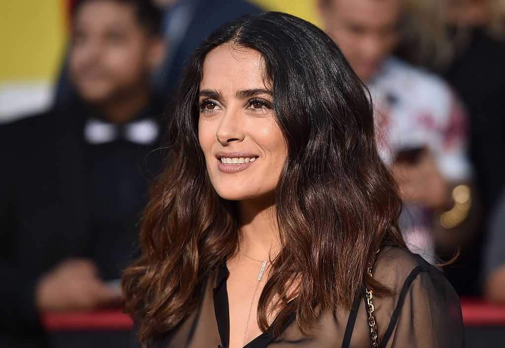 """Salma Hayek at the premiere of Sony's """"Sausage Party"""" at Regency Village Theatre on August 9, 2016, in Westwood, California 