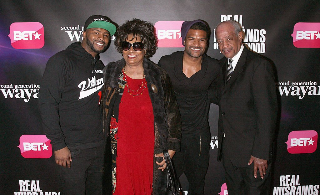 """Craig, Damien Dante, Elvira, and Howell Wayans attend the """"Real Husbands Of Hollywood"""" & """"Second Generation Wayans"""" screening on January 14, 2013, in New York City 