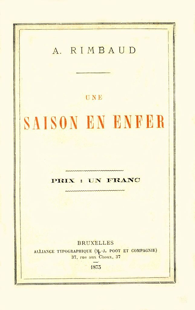 couverture de ''Une saison en enfer'' par Arthur Rimbaud. (1854-1891). | Photo : Getty Images