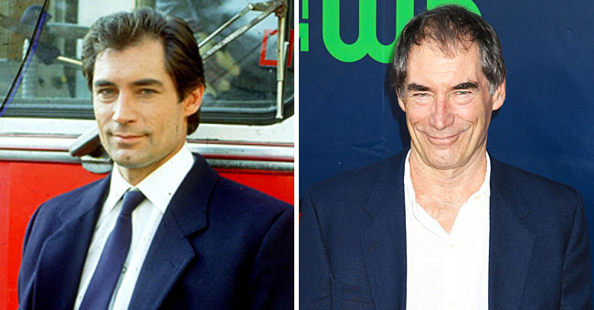 Timothy Dalton of 'James Bond' Fame Spotted Kissing a Chic Woman during a Stroll in Italy