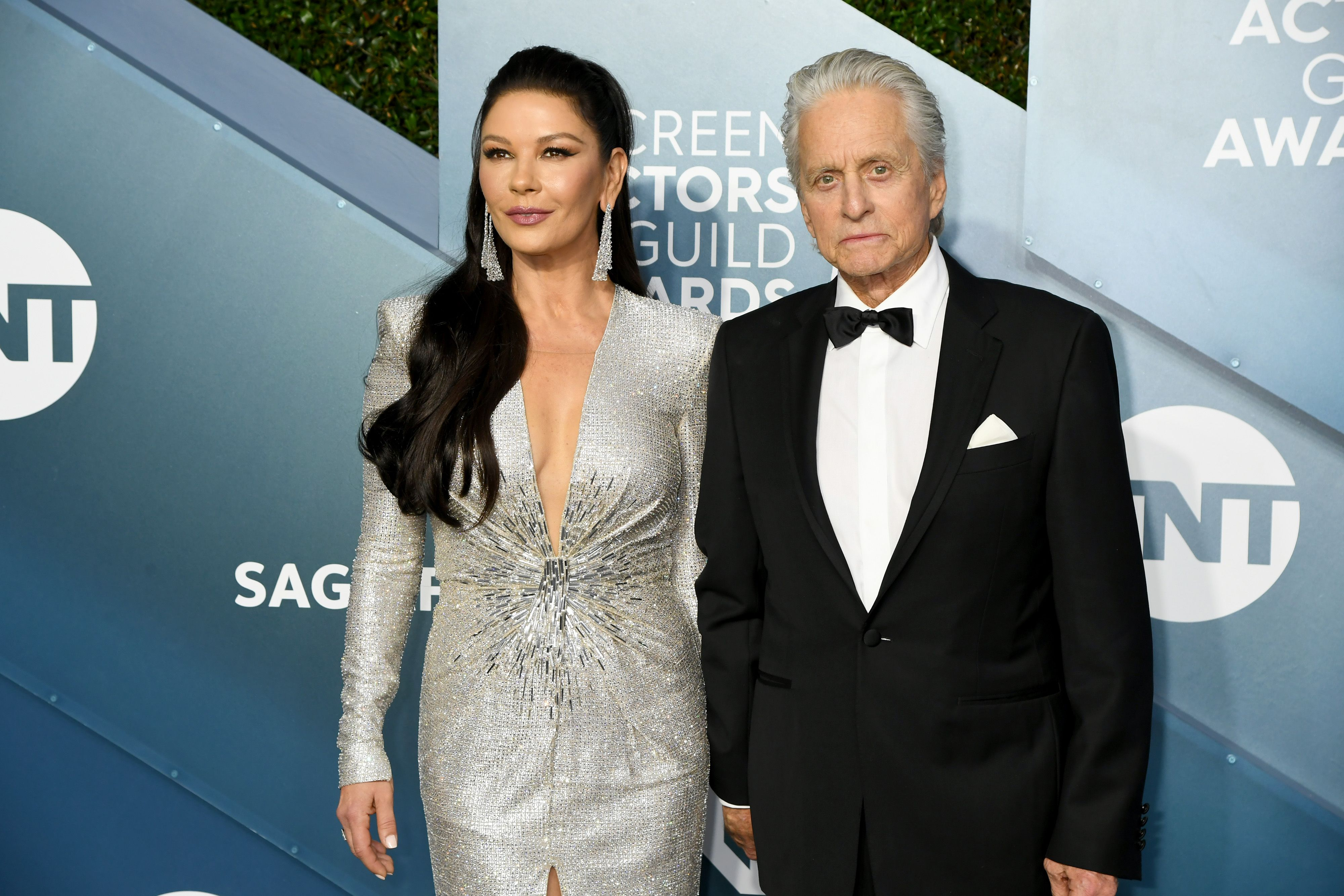 Catherine Zeta-Jones and Michael Douglas at the 26th Annual Screen ActorsGuild Awards at The Shrine Auditorium on January 19, 2020 | Photo: Getty Images