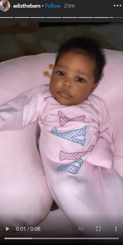 """""""Love and Hip Hop: Atlanta"""" stars, Lil Scrappy and Bambi Benson's daughter, Xylo, lying in her bed. 