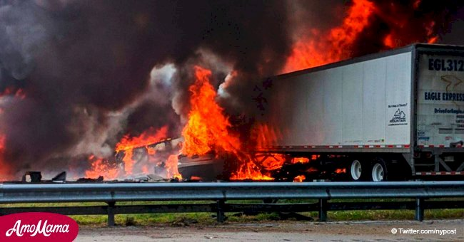 A fiery crash on Florida highway kills seven people and leaves others injured