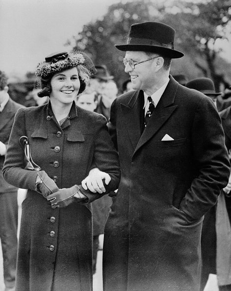 Joseph P. Kennedy with his daughter Rosemary Kennedy in London, undated photo. | Photo: Getty Images