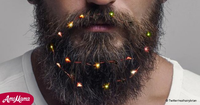Men literally set their beards on fire this holiday season