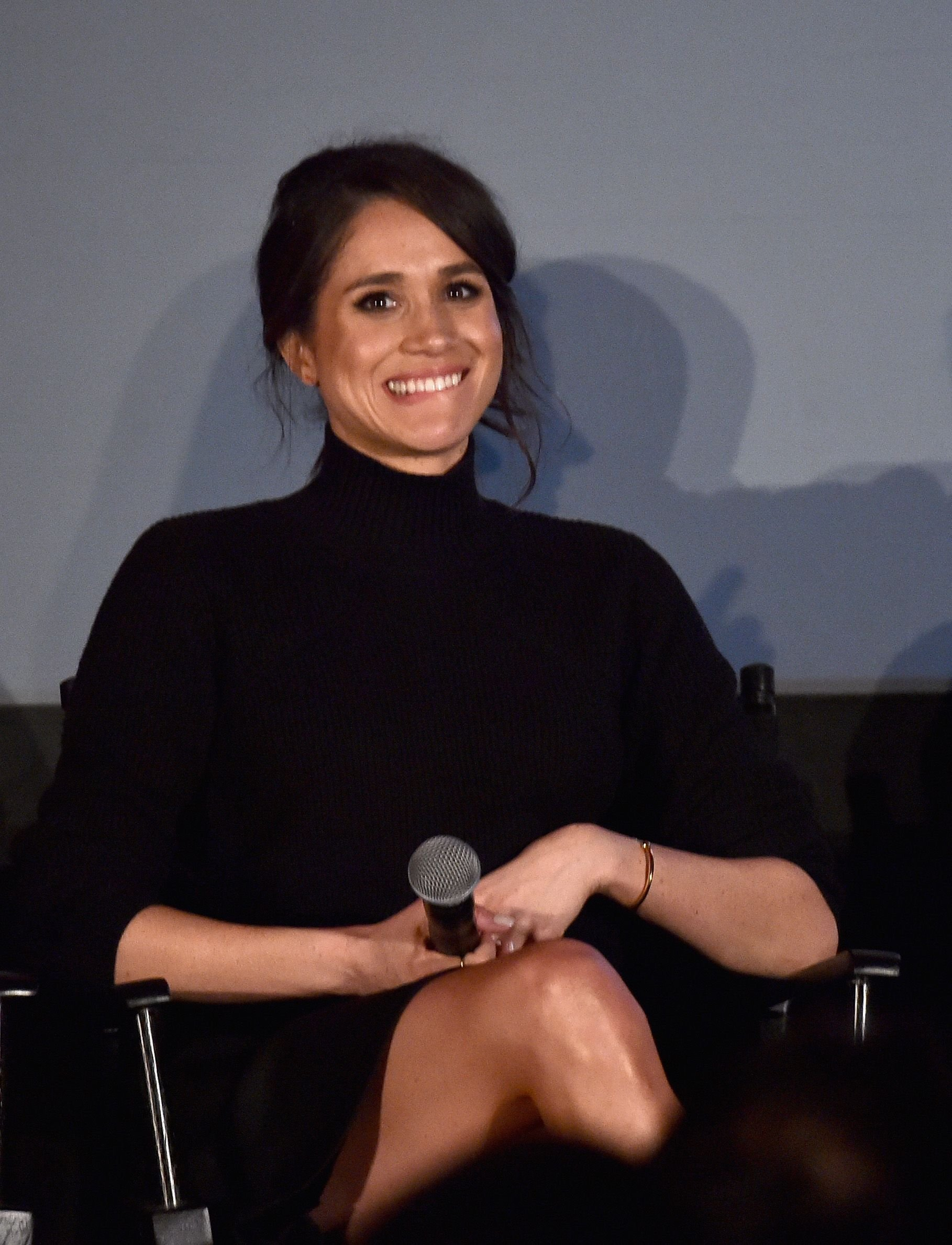 "Meghan Markle during a Q&A following the premiere of USA Network's ""Suits"" Season 5 at Sheraton Los Angeles Downtown Hotel on January 21, 2016 in Los Angeles, California. 
