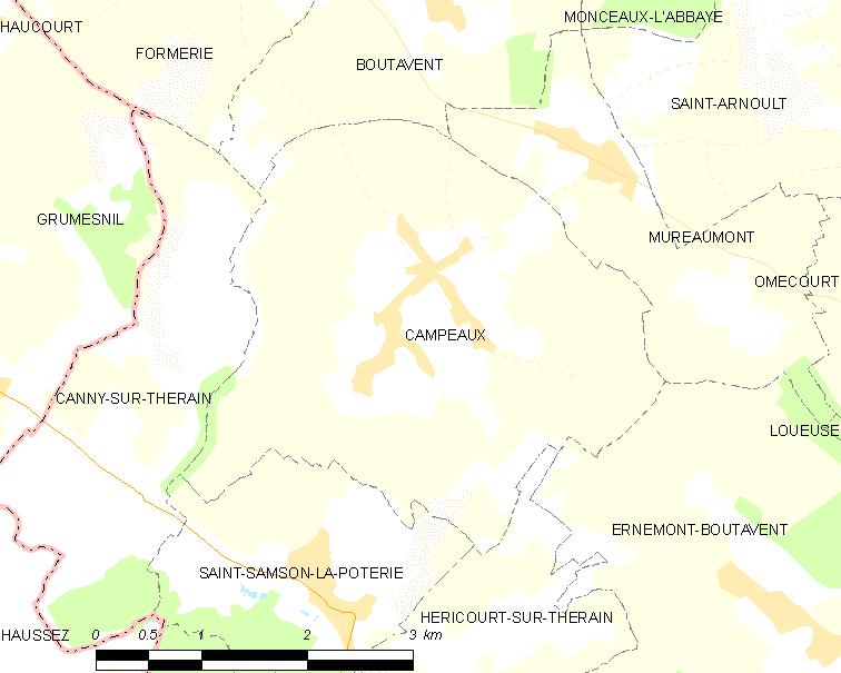 Campeaux sur la carte | Image: Wikipedia
