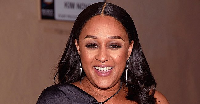Tia Mowry Shows off Baby Bump While Posing with Son Cree in a Throwback Photo