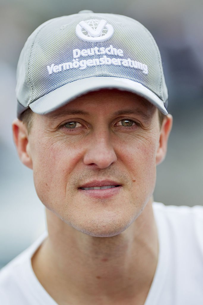 Portrait de l'Allemand Michael Schumacher, pilote du Mercedes GP Petronas F1 Team, le 1er octobre 2010. Photo : Getty Images