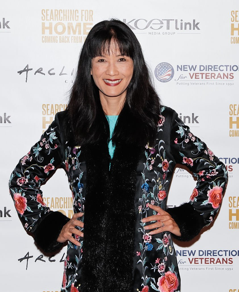 "Suzanne Whang attends a screening of ""Searching For Home: Coming Back From War"" in Sherman Oaks, California on November 2, 2015 