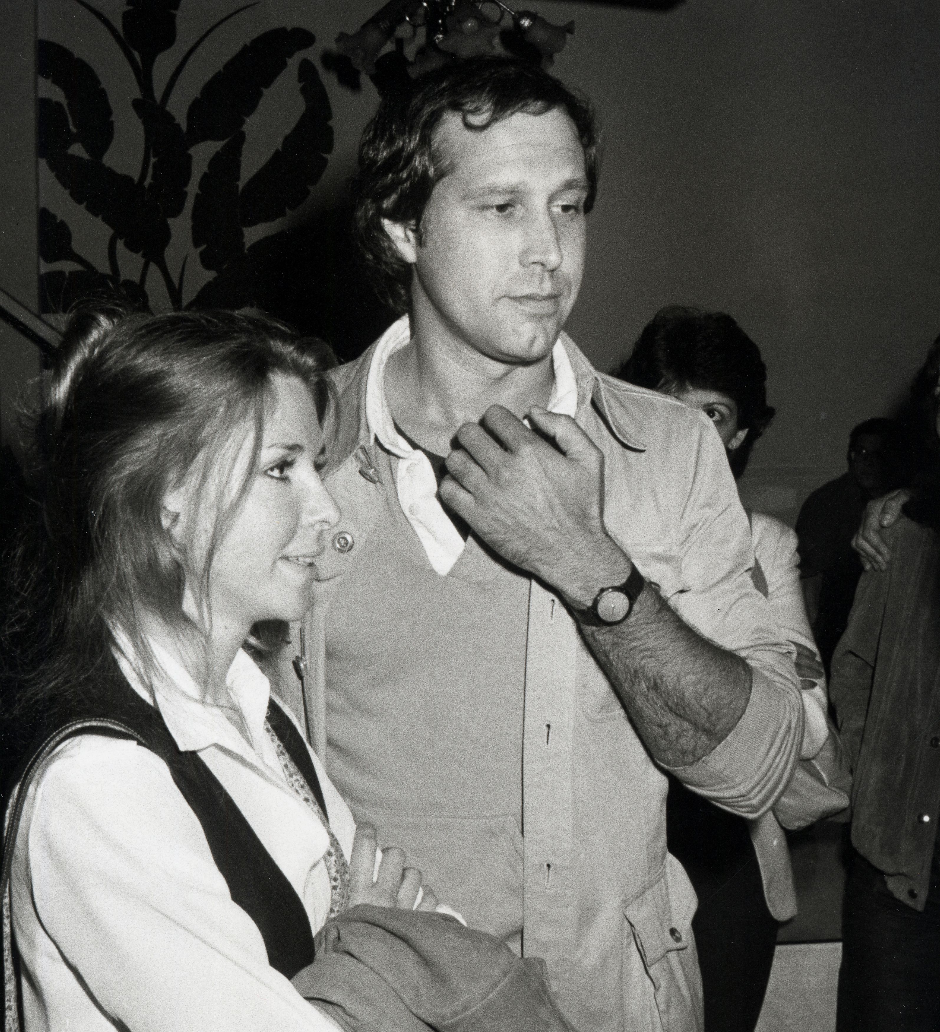 Jayni Chase and Chevy Chase at The Improv in Los Angeles. | Source: Getty Images