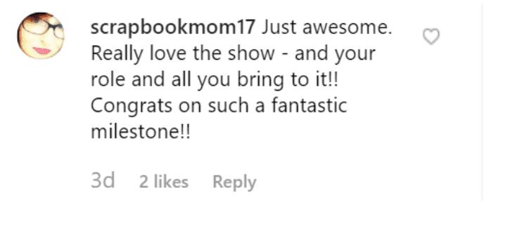 Fan's comment on Bridget Moynahan's post. | Source: Instagram/bridgetmoynahan