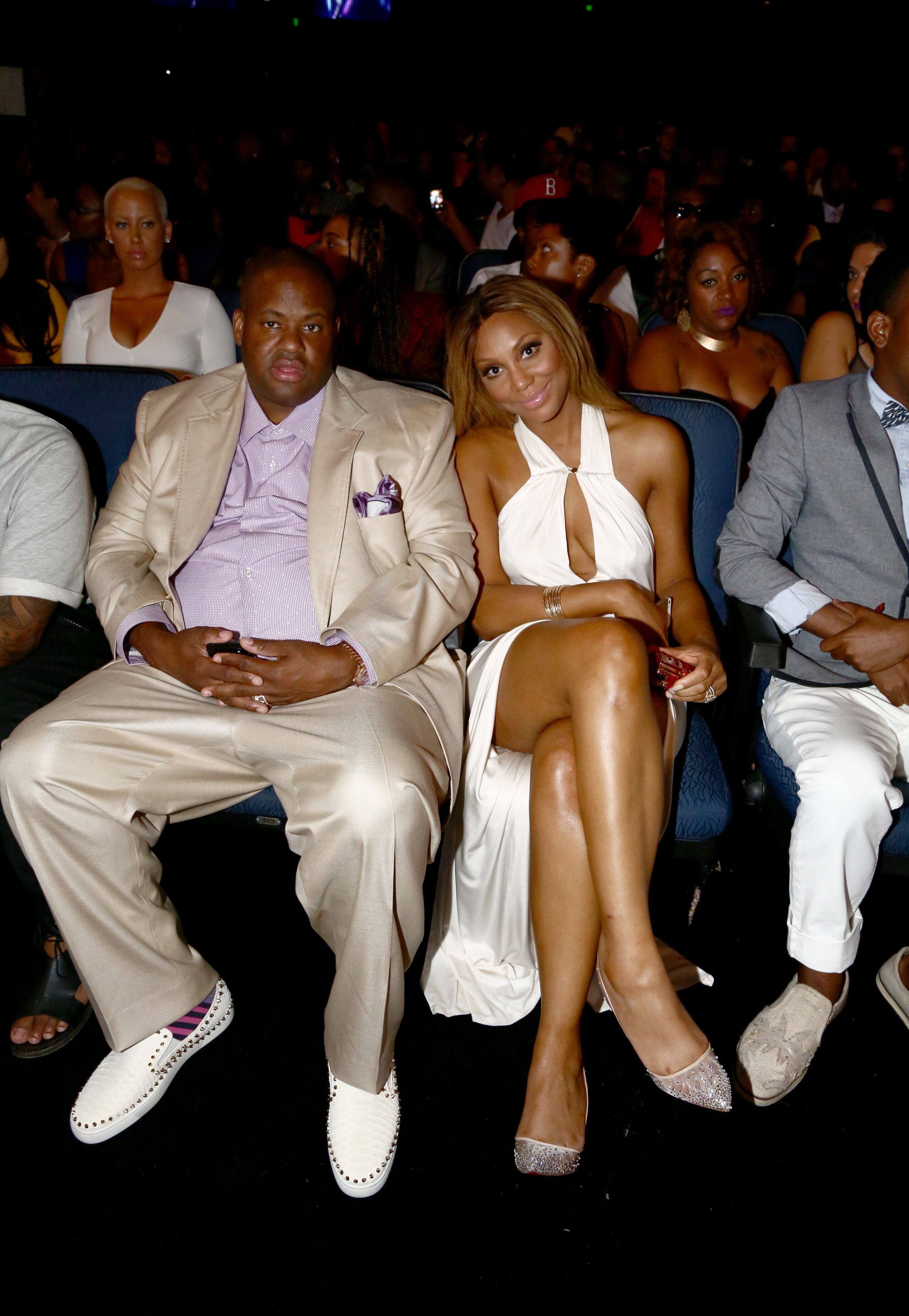 Tamar Braxton and Vincent Herbert attend the BET Awards. | Source: Getty Images