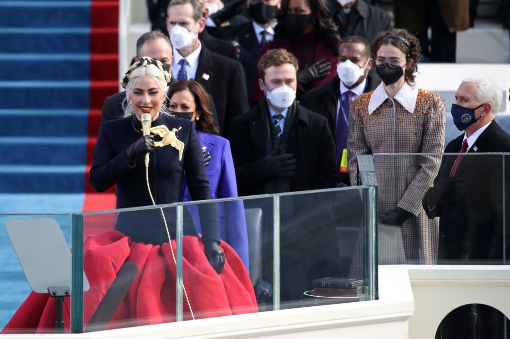 Lady Gaga at the inauguration of U.S. President-elect Joe Biden on January 20, 2021 in Washington, DC | Photo : Getty Images