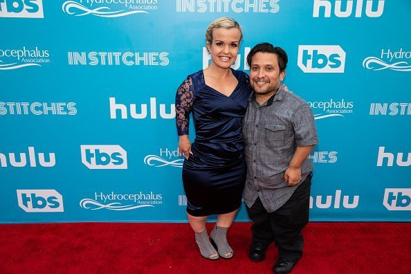 Joe Gnoffo and Terra Jole arrive at Avalon Hollywood In Stitches, a Night of Laughs with Conan & Friends | Photo: Getty Images