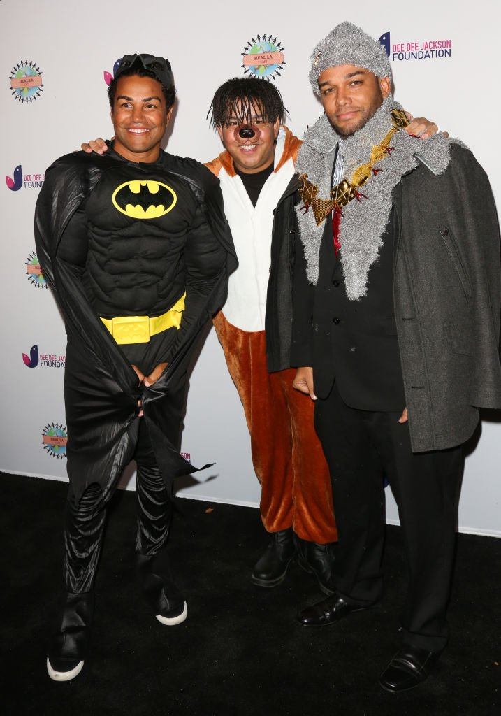 TJ Jackson, Taj Jackson and Taryll Jackson attending the 3rd annual Dee Dee Jackson Foundation's Costume For A Cause at the Jackson Family Home on October 26, 2018 in Encino, California. | Source: Getty