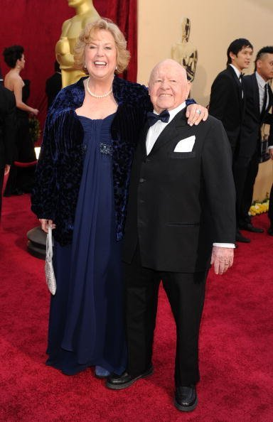 Mickey Rooney and his wife Jan Rooney arrive at the 82nd Annual Academy Awards held at Kodak Theatre on March 7, 2010, in Hollywood, California. | Source: Getty Images.