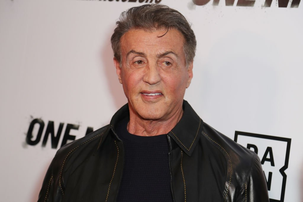 """Sylvester Stallone at Premiere Of """"One Night: Joshua Vs. Ruiz"""" at Writers Guild Theater on November 21, 2019 