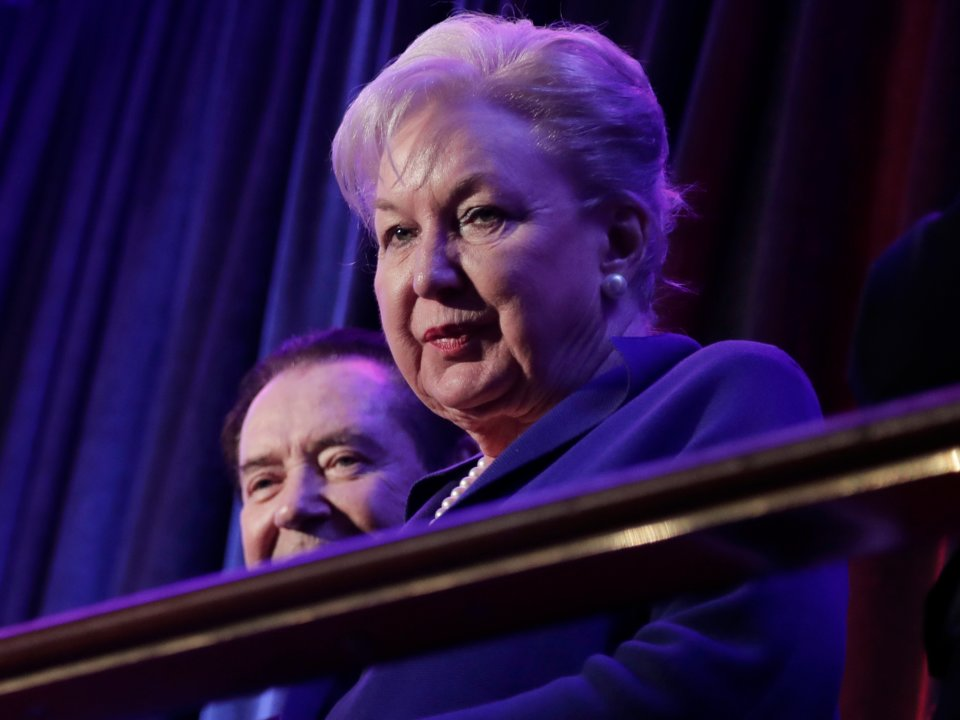 Maryanne Trump Barry at Donald Trump's election rally in New York City on November 9, 2016 | Photo: AP/Julie Jacobson