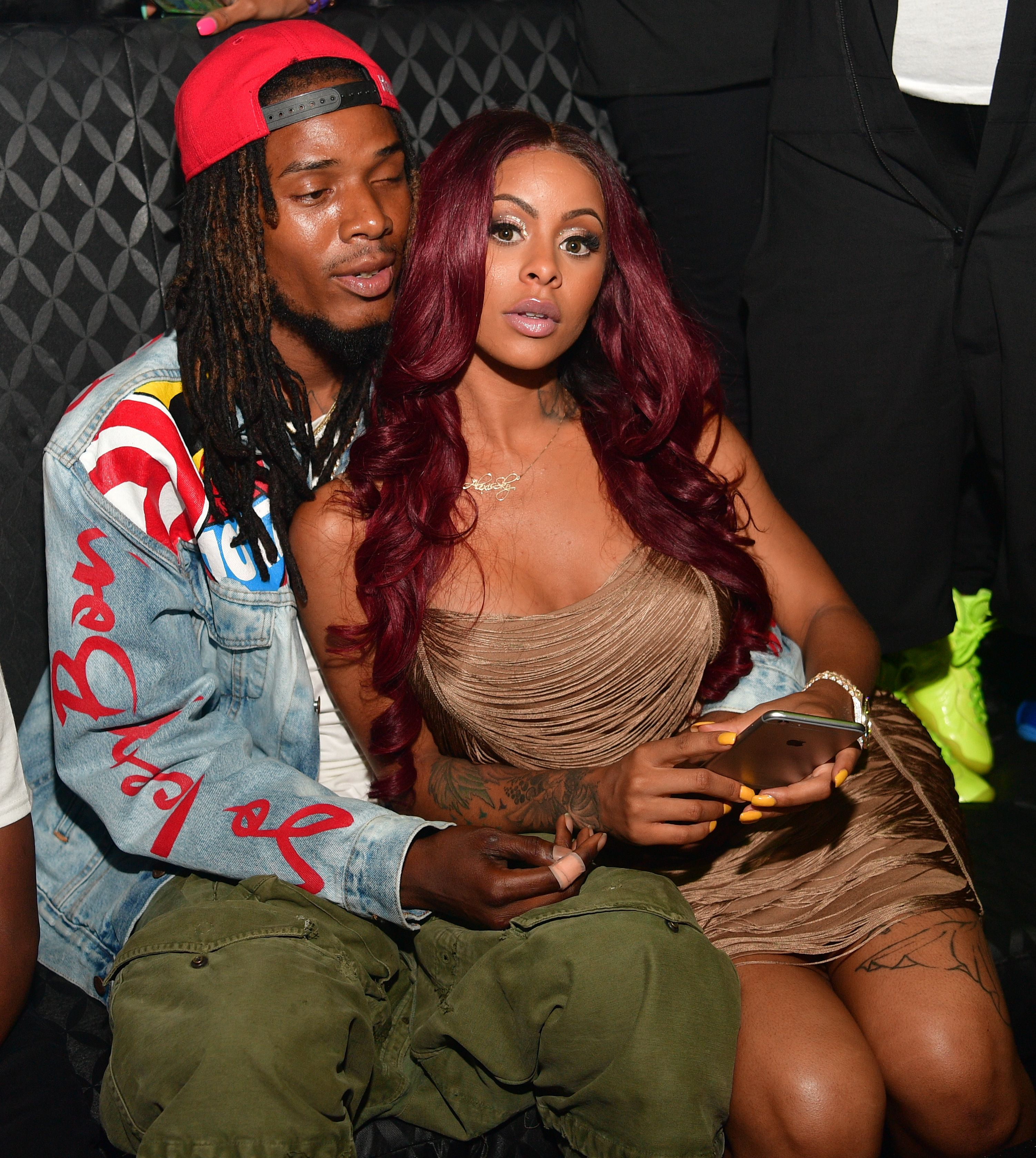 Fetty Wap and Alexis Sky at the Medusa Lounge in Atlanta, Georgia in July 2016/ Source: Getty Images