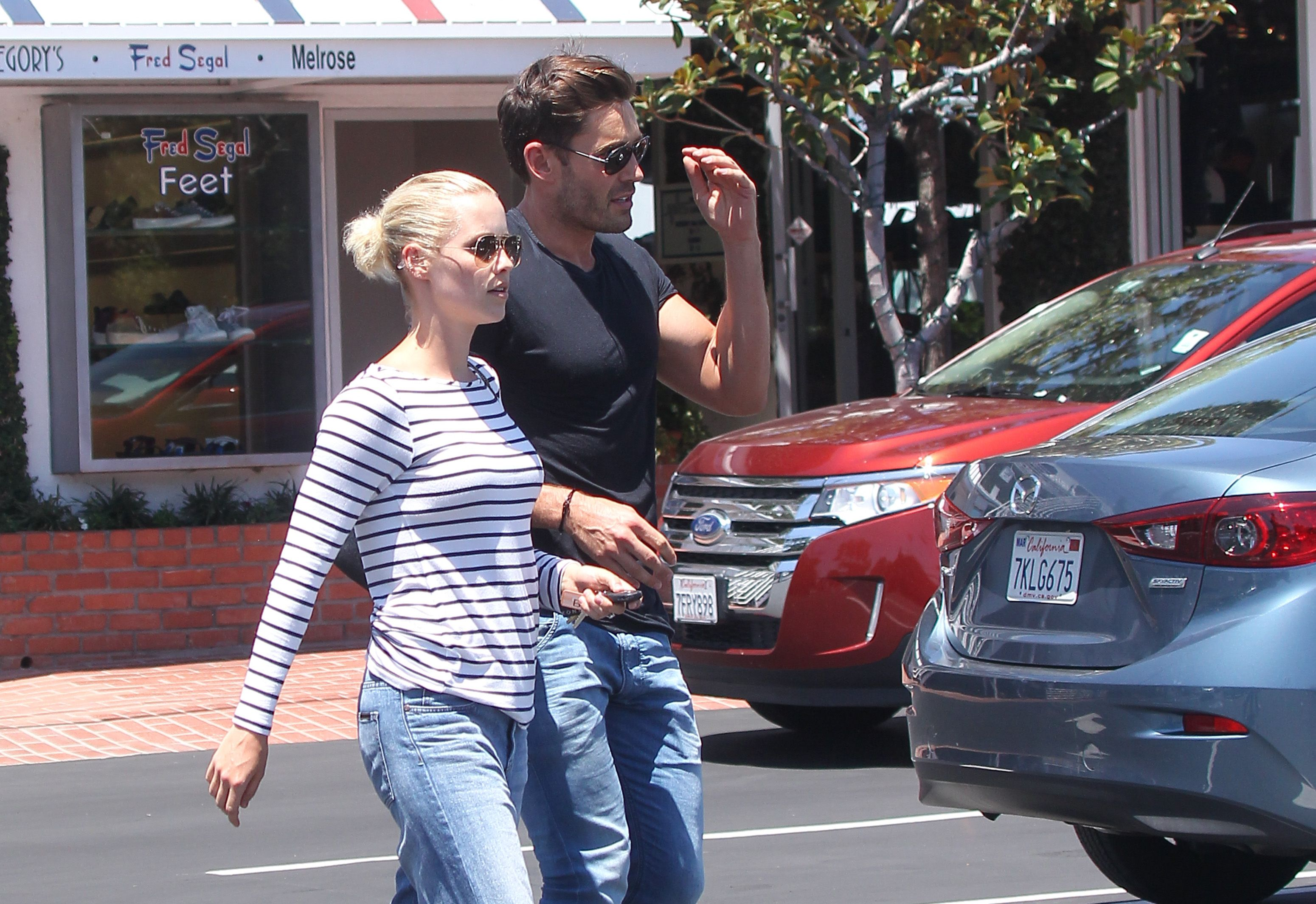 Claire Holt and Matt Kaplan are spotted on July 14, 2015 in Los Angeles, California.   Source: Getty Images