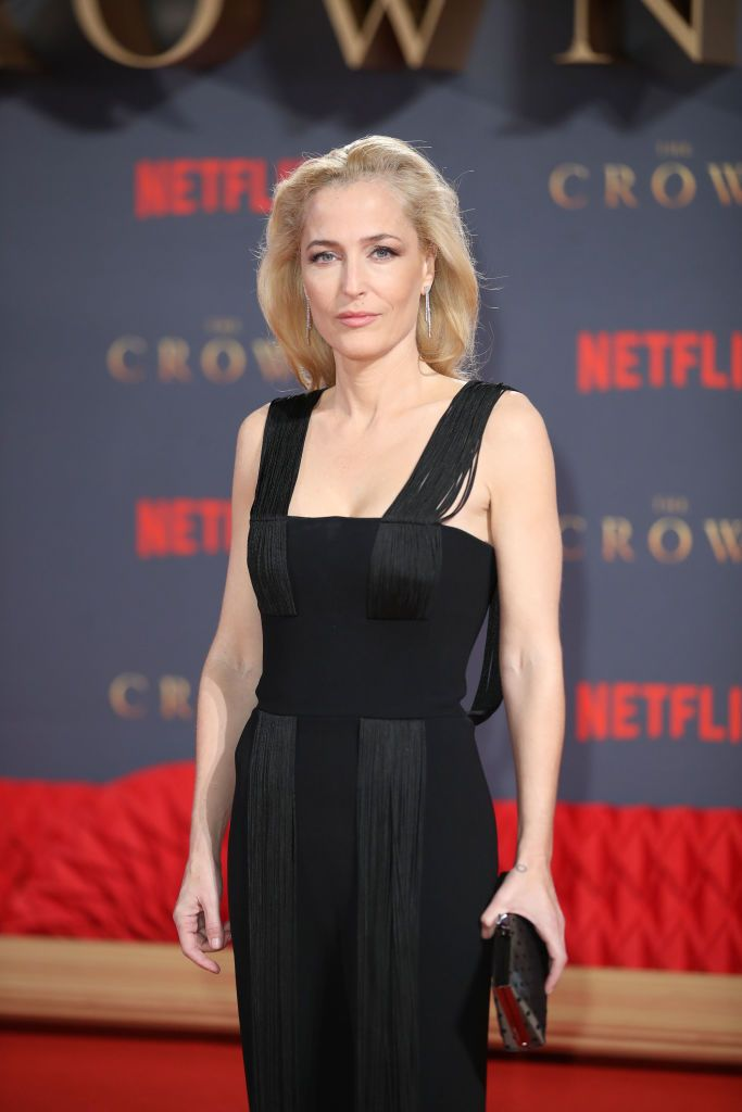 "Gillian Anderson at the World Premiere of season 2 of Netflix ""The Crown"" in November 2017 in London, England 