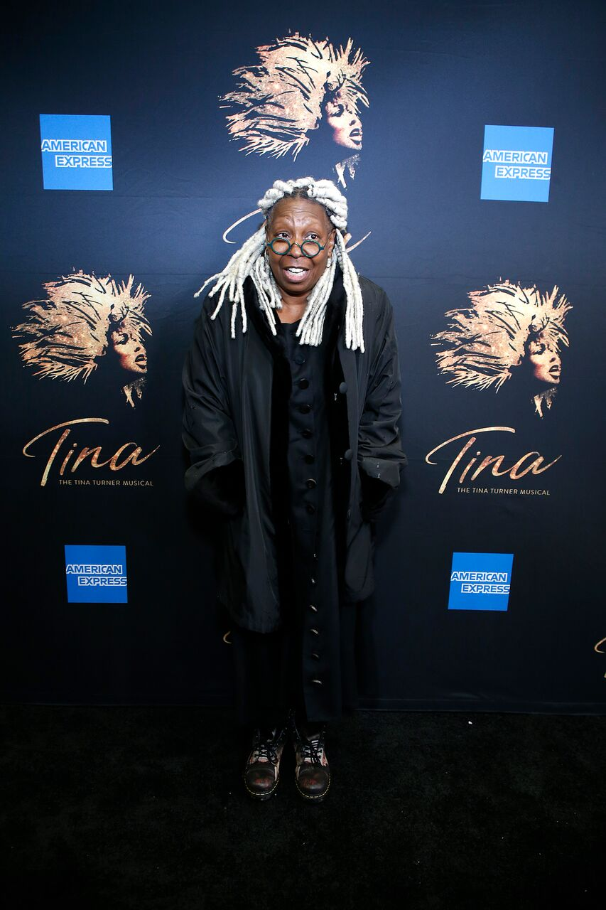"Whoopi Goldberg at the premier for the musical ""Tina""/ Source: Getty Images"