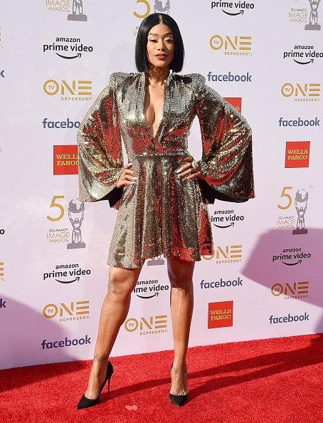 Tami Roman at the 50th NAACP Image Awards at Dolby Theatre on March 30, 2019 | Photo: Getty Imzges