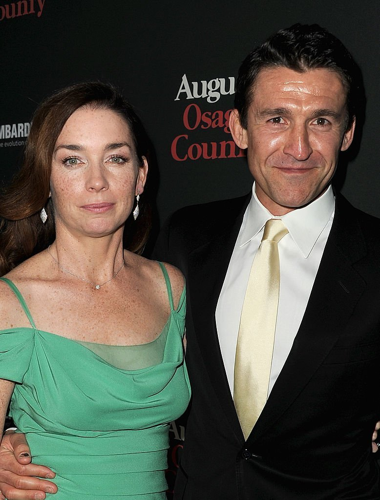 "Actress Julianne Nicholson (L) and Jonathan Cake attend the Premiere of The Weinstein Company's ""August: Osage County"" 