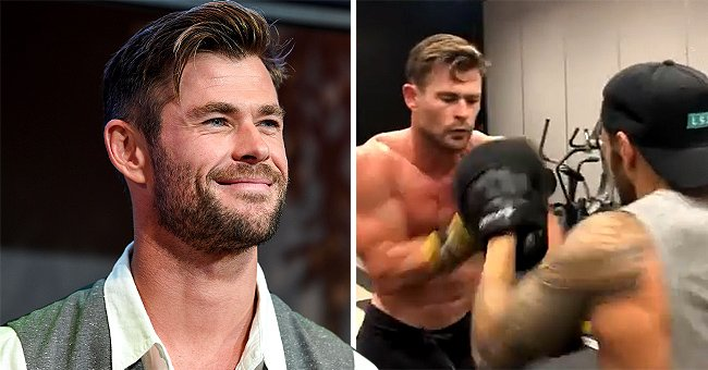 See 'Thor' Star Chris Hemsworth's Impressive Boxing Skills in a New Training Video