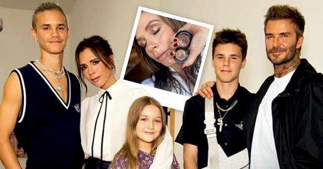 Victoria and David Beckham's Daughter Harper Did Mom's Makeup — See the Cool Results