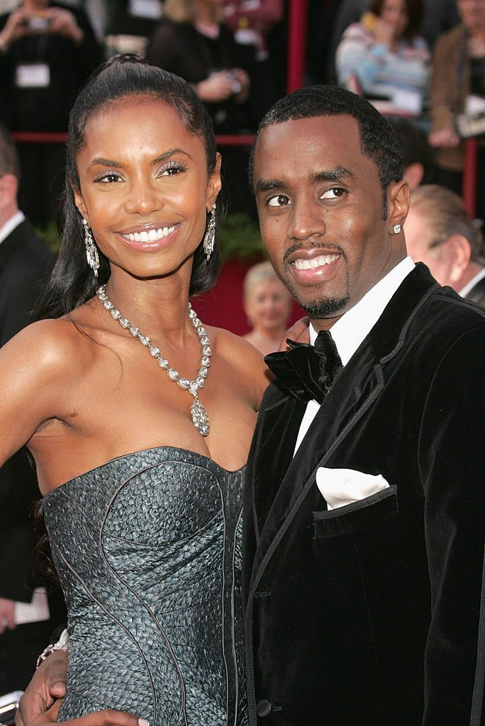"Actress Kim Porter (L) and Rapper Sean ""P Diddy"" Combs arrive at the 77th Annual Academy Awards at the Kodak Theater 