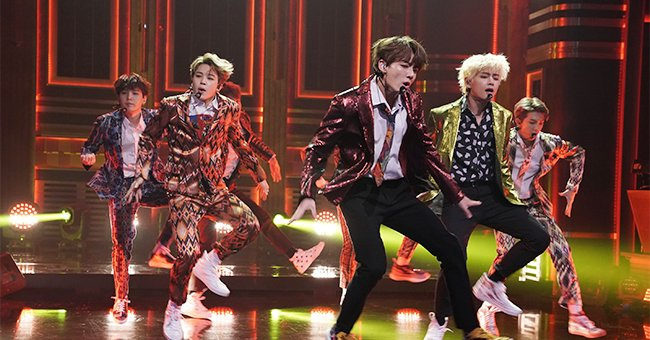"""BTS performs """"Idol"""" on """"The Tonight Show with Jimmy Fallon""""   Source: Getty Images"""